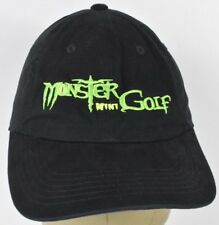 Black Monster Mini Golf Embroidered Baseball Hat Cap Adjustable