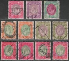 South Africa 1913 KGV Large Head Revenue Selection to £1 Used Fiscal