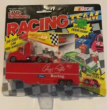 VTG NASCAR Ford Racing Geoff Bordine Transporter with mini car, package NOS