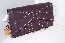 NWT Authentic $200 ZAC POSEN Z Spoke Shirley Style w/ Bow & Gold Studs Chain Bag
