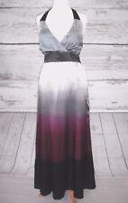 BNWT MONSOON GREY & CERISE OMBRE SILK MAXI DRESS - UK SIZE 16 PETITE. RRP: £135