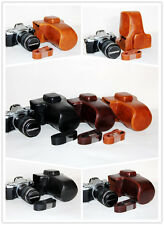 camera leather case bag for Olympus OM-D E-M5 Mark IIM. Zuiko  12-42mm lens
