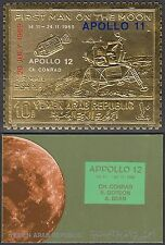 Yemen 1969 ** mi.a1010 a espacio Space Apollo 12, oro foil en Folder [u623]
