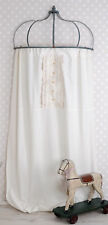 Curtain White Blind Country Style Vintage Opaque Scarf lace buttons Shabby Chic