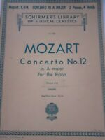 Partituras SCHIRMER'S Library Of Musical Mozart Concerto N º 12 For The Piano