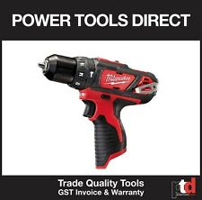 NEW MILWAUKEE 12V CORDLESS M12BPD-0 HAMMER DRILL DRIVER BARE SKIN ONLY