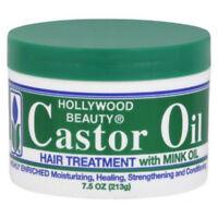 Hollywood Beauty Castor Oil Hair Treatment, with Mink Oil 7.5 oz (Pack of 2)