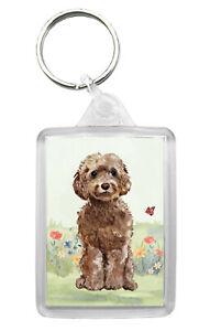 Cockapoo (Brown) Dog Keyring Keyfob Lovely Image Fun Gift Present Idea