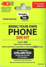 Straight Talk Sim Card (Verizon At&T T-Mobile) Activation Kit Byop