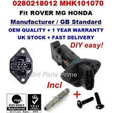 Rover 200 400 45 25 2.0iDT/MG ZR ZS 2.0TD Mass Air Flow Meter Sensor 0280218012