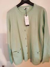 SIZE 22 MINT MIX WOOL BLEND CLASSIC COLLECTION CARDIGAN MARKS AND SPENCER