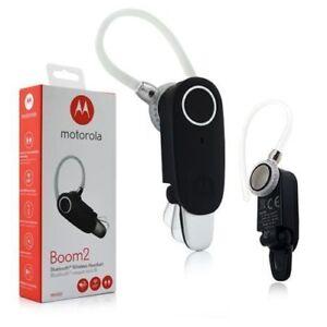 Motorola Boom 2 Bluetooth Headset Durable Wireless Dual Mic MH003 NEW