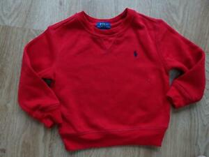 RALPH LAUREN POLO boys red sweatshirt jumper AGE 2 - 3 YEARS 3T