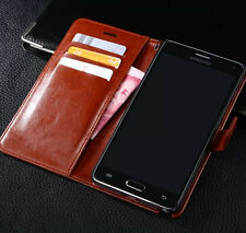 Genuine Leather Flip Wallet Stand Case Cover For Samsung Galaxy Note 2 II N7100