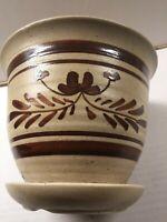 VTG Footed Clay Pottery Planter Flower Pot STUDIO ART Mid Century Modern Handmad