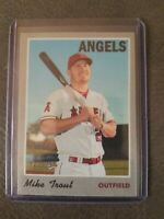 Mike Trout 2019 Topps Heritage Cloth Sticker Card Rare SP