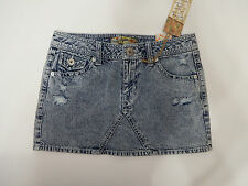 mini skirt Tyte Womens Juniors 100% Cotton Denim Distressed  7 Blue and Solid
