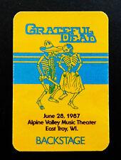 Grateful Dead Backstage Pass Alpine Valley Wisconsin 6/28/1987 Mexican Hat Dance