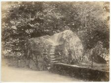 Albumen Print  William Wordswoth's Seat Rydal c1870 JW Brunskill England