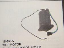 TILT MOTOR FITS OMC 1978 THRU 1985 982706 982058 EXCEPT 2.5L 3.0L STERNDRIVE