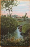 1910 PC: 'Upper Stroudwater River- Westbrook, Maine ME'