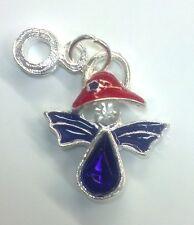 **FREE SHIP** NEW Red Enamel Hat & Crystal Angel European Slider Charm Society