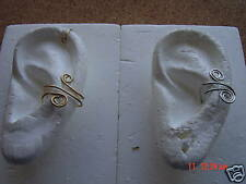2 PAIR (4) GOLD & SILVER EAR CUFFS NO PIERCING NEEDED-BONUS FREE PR.  (2) COPPER