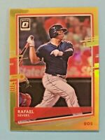 2020 Donruss Optic Rafael Devers Lime Green Prizm #163 Boston Red Sox