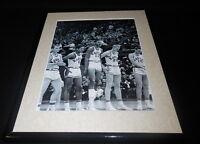 Wilt Chamberlain Framed 11x14 Photo Display Kansas Jayhawks Pregame