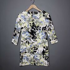 Ladies Warehouse Dress Size White With Floral Print Size UK 12