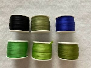 100% PURE SILK RIBBON 4MM THREAD AND FABRIC ART