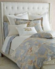 RALPH LAUREN Hathersage 3pc Gray Gold Cream Floral Comforter Shams - Full/Queen