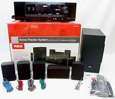 RCA RT2781BE 1000W Bluetooth Home Theater System Dolby Digital 5.1 Channel Audio