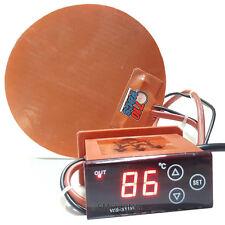 710Vacs Silicone Thermal Heat Pad & Digital Controller Vac Vacuum Chamber UK EU