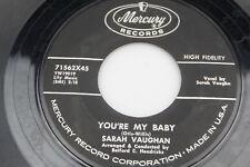Sarah Vaughan: You're My Baby / Eternally [VG+ Copy]