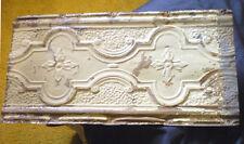 SALE  Antique Ceiling Tin Tile Shabby Chic Cabinet Doors Primitive Canvas