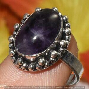 """Amethyst Gemstone Ring 925 Sterling Silver Plated Us Size 7.5"""" U383-F113"""