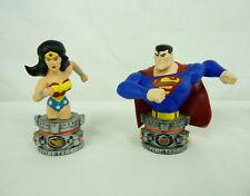 LOT DE 2 FIGURINES TM & C DC COMICS MONOGRAM WONDER WOMAN ET SUPERMAN