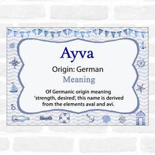 Ayva Name Meaning Nautical Certificate