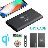 DIY 10000mAh Qi Wireless Power Bank Battery Case Charging Type-C For iPhone X 8