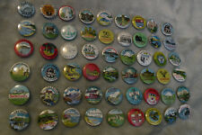 Job lot collection vintage badges tourist places Jemah etc x 54