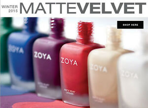 Zoya Fall 2015 Matte Velvet Collection Nail Polish Choose Your Colors!