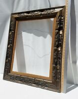 Mexico Carved Wood Picture Frame Vintage 26 X 31.5 OD, 18x24 ID