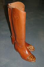 STIVALE DONNA-WOMAN BOOT-36,5- VITELLO CUOIO+CAVALLINO-CALF BOMBAY+PONY-LHT SOLE