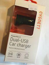 Cygnett USB Car Charger PowerMini II Dual-USB ART345-04. Brand New & Sealed pack