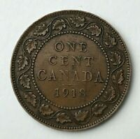 Dated : 1918 - Canada - One Cent - 1 Cent Coin - King George V