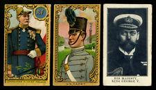 1910 T80 TOLSTOI CADET FRANCE~1912 C64 HIS MAJESTY KING GEORGE V (3 CARDS)