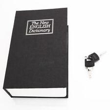 New Black Dictionary Secret Book Hidden Safe Money Box Home Security Key Lock