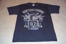 New York Customs Garage Est.1978 Fuel Injected V-8 Engine Alki T-Shirt Mens L