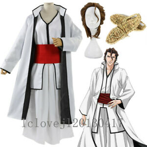 Cosplay Anime BLEACH Aizen Sousuke Halloween Party Costume Suit Outfit Kimono